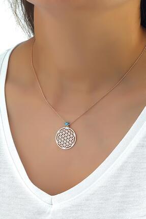 Azuris Silver 925 Ayar Gümüş Yaşam Çiçeği Kolye Dsrcha1153