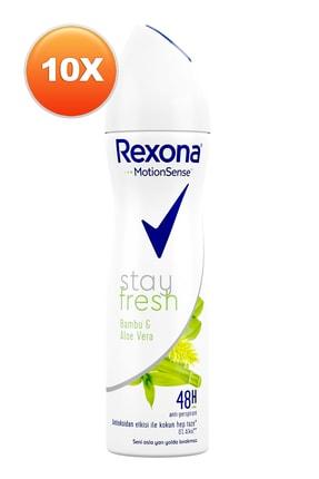Rexona Stay Fresh Bambu Ve Aloe Vera Kadın Deodorant 150 Ml. Onlu Paket