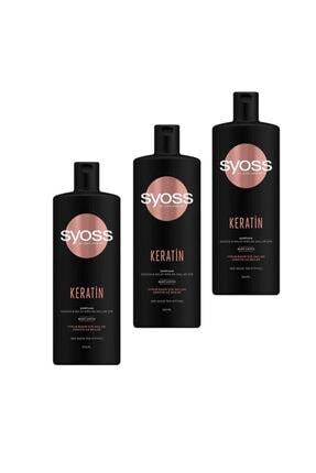 Syoss Keratin Şampuan 500 ml 3'lü Set