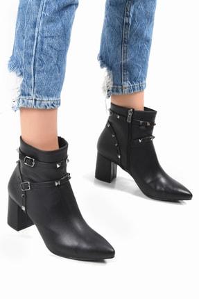 Sapin Kadın Siyah Topuklu Bot 33607