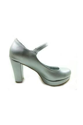 Almera Kadın Gri Topuklu Ayakkabı - Lame-perde - 1738