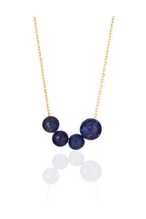 Azuris Silver Kadın 925 Ayar Gümüş Lapis Lazuli Taşlı Kolye