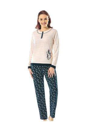 ERDEM 8603 Kadın Kışlık Uzun Kol Pijama Takım