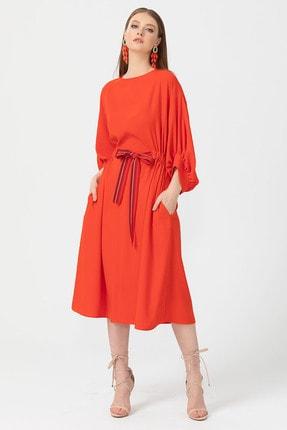 Seçil Önden Bağlamalı Elbise - 3551 Mercan