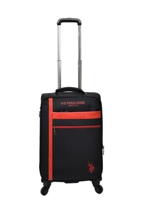 U.S Polo Assn. Valiz Kabin Boy Siyah Kumaş Valiz