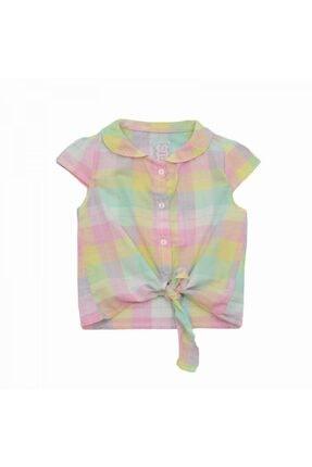Mila Bebe Timo Bağlamalı Ekose Kız Çocuk Gömlek