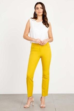 Moda İlgi Kadın Beş Cep Dar Paça Pantolon Safran