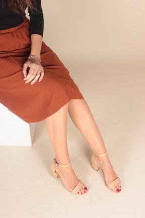 İnan Ayakkabı Ten Cilt Kadın Klasik Topuklu Ayakkabı FOZR721