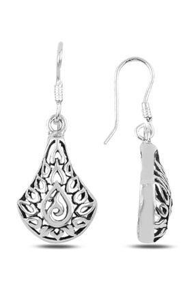 Silverella Gümüş 925 Ayar Oksitli Sallantılı Küpe