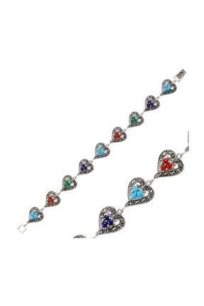 Silverella Gümüş 925 Ayar Markazit & Doğal Taşlı Bileklik