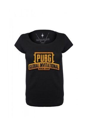 Angemiel Wear Pubg Global Invitational Pamuklu Beyaz Siyah Tişört