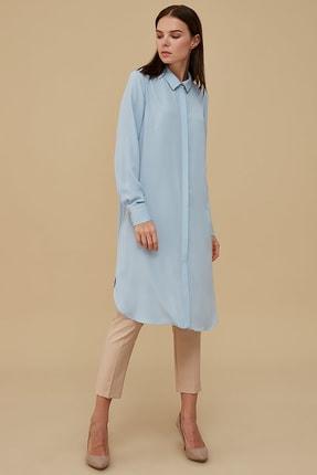 Kayra Kadın Basic Tunik Açık Mavi Sz 21502