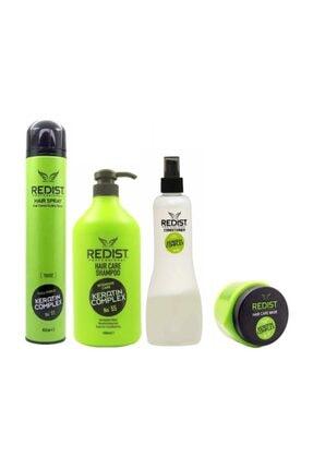 Redist Keratinli Bakım Seti Şampuan 1000ml , Saç Spreyi 400ml +Onarıcı Maske 500ml Keratinli Fön Suyu 400ml