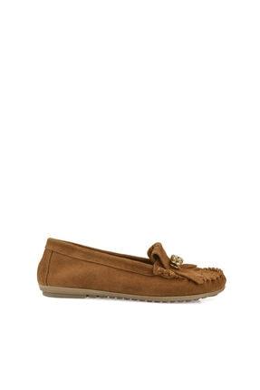 Ziya Kadın Hakiki Deri Ayakkabı 101358 827 1 TABA