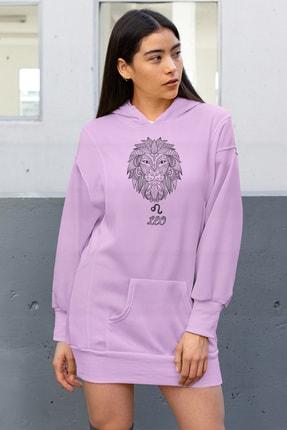 Angemiel Wear Leo Aslan Pembe Elbise Sweatshirt Tunik
