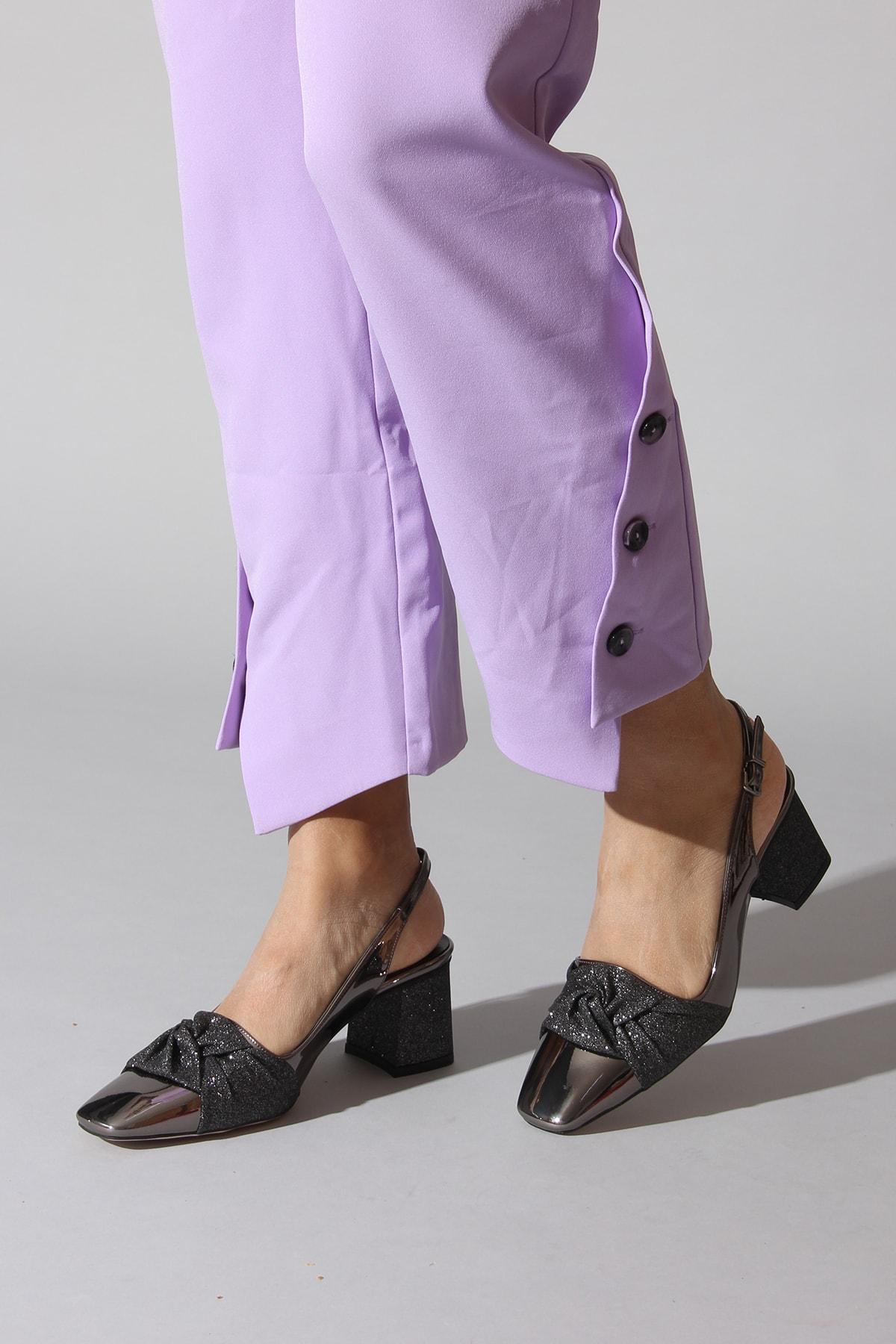 Rovigo Platin Kadın Dolgu Topuklu Ayakkabı 1068.0000578.13.424