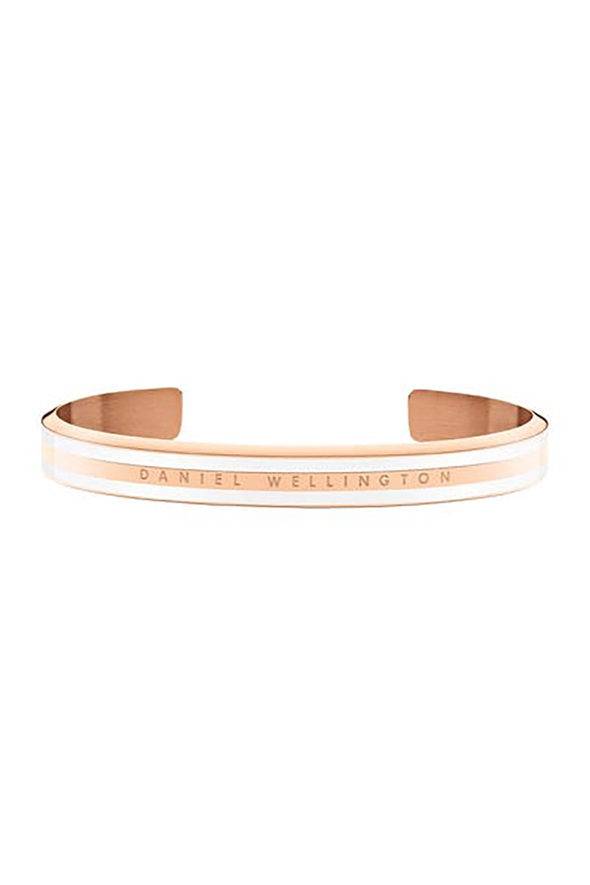 Daniel Wellington Classic Slim Bracelet Rose Gold Satin White Medium - Unisex