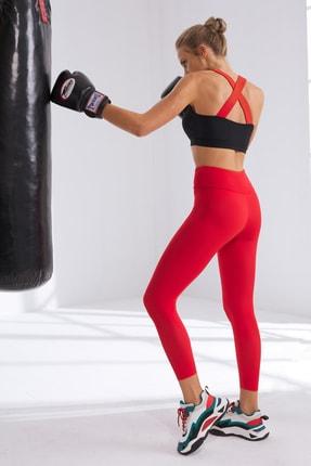 No Gossip Kadın Siyah Sırtı Çapraz Lastik Spor Bra