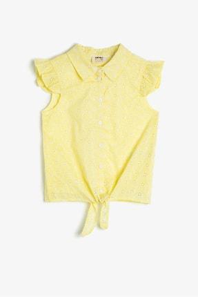 Koton Sarı Desenli Kız Çocuk T-Shirt