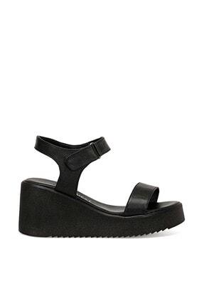 Nine West Hakiki Deri Siyah Kadın Sandalet