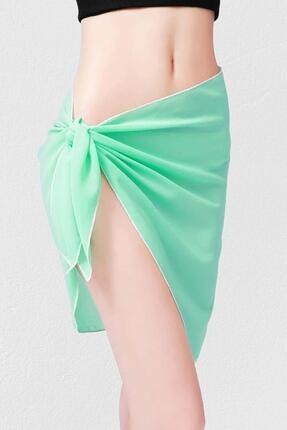 Mite Love Kadın Yeşil Mint Yeşili Tül Pareo Ml5503