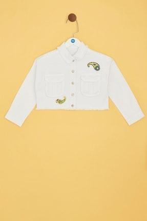 B&G Store Kız Çocuk Beyaz Ceket