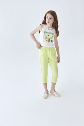 B&G Store Kız Çocuk Yeşil Pantolon