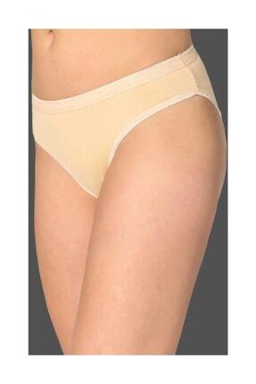 Tutku Kadın 3'lü Paket Pamuklu Su Yolu Bikini Külot Ten M/L