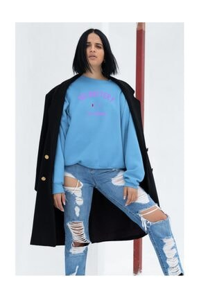 Angemiel Wear No Battery All Drama Kadın Mavi ,sweatshirt