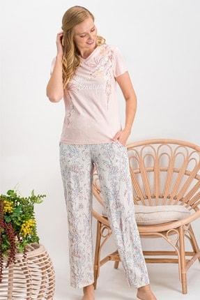 Arnetta Wild Flower Somon Kadın Pijama Takımı