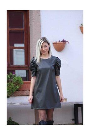 Haki Deri Elbise 139HAKİ DERİ