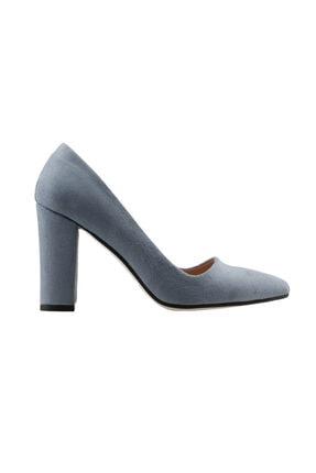 Ayakland Kadın Günlük 8 cm Topuk Süet Ayakkabı 137029-311