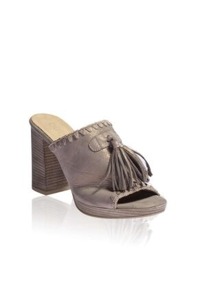 Bueno Shoes Gri Kadın Terlik