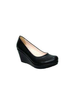 Siyah Dolgu Topuk Ayakkabı 762