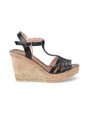 Missf U1726-19S Siyah Kadın Sandalet