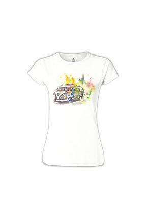 Lord Kadın Wv- Minibüs Beyaz Tshirt