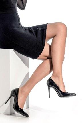 Derigo Kadın Siyah Rugan Topuklu Ayakkabı 3618016