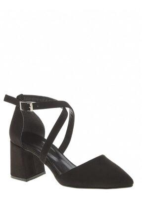 Derigo Kadın Siyah Süet Sandalet 392701