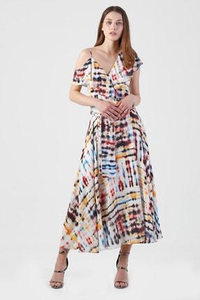 Lefon Tel Kol Askılı Elbise
