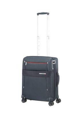 Samsonite Mavi Unisex Duopack - 4 Tekerlekli Körüklü İki Bölmeli Kabin Boy Valiz 55Cm 53910
