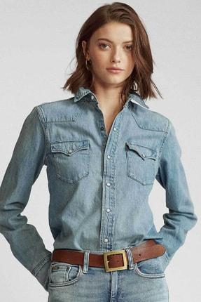 Ralph Lauren Kadın Mavi Gömlek 4482833842228