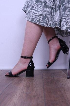 Derigo 19639siyah Rugan Kadın Topuklu Sandalet