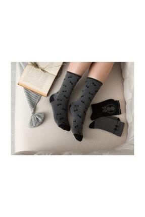 Madame Coco Maison Kadın 3'lü Soket Çorap - Siyah