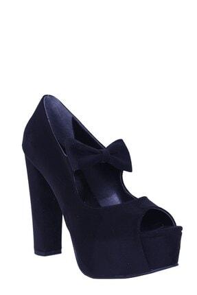 Derigo Kadın  Süet  Topuklu Ayakkabı 41105siyah