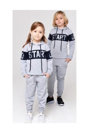 Riccotarz Unisex Start Kapşonlu Çocuk Eşofman Takımı