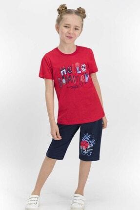 U.S Polo Assn. Lisanslı Kırmızı Kız Çocuk Kapri Takım