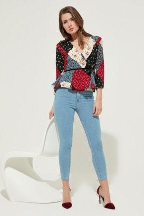 Zindi Kadın Yüksek Bel Skinny Jeans Buz Mavi