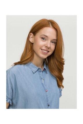 XINT Kolları ve Eteği Fırfırlı Rahat Form Gömlek