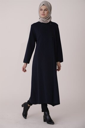 Butik Triko Pardesü-siyah Mavi 2620-0170