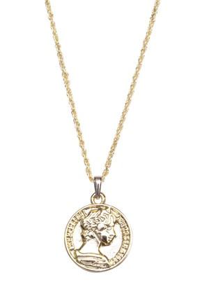New Look Kadın Meri Altın Madalyon Kolye 4825